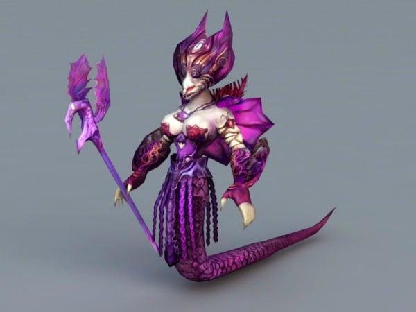 Hechicera Naga Femenina