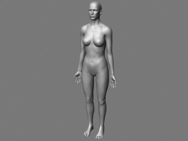 Carácter de malla de cuerpo femenino