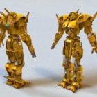 Bojová postava žlutého robota