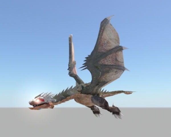 Flying Dragon Rigged