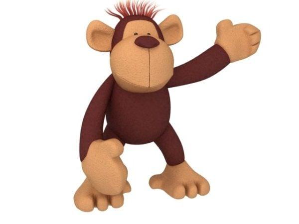 Funny Cartoon Orangutan Monkey