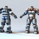 Personaje de armadura de poder del futuro soldado