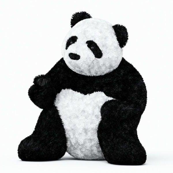 لعبة الباندا العملاقة القطيفة