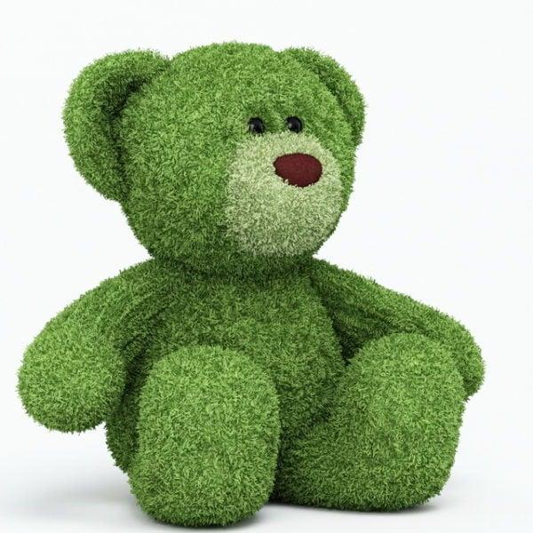 Green Plush Bear
