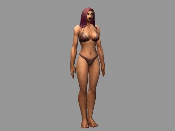 Carácter de mujer humana