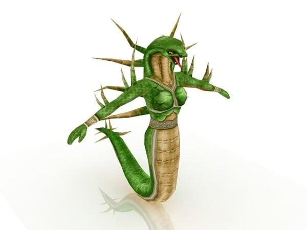 Serpiente humanoide hembra