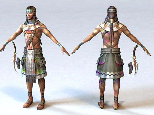 Indian Warrior Character