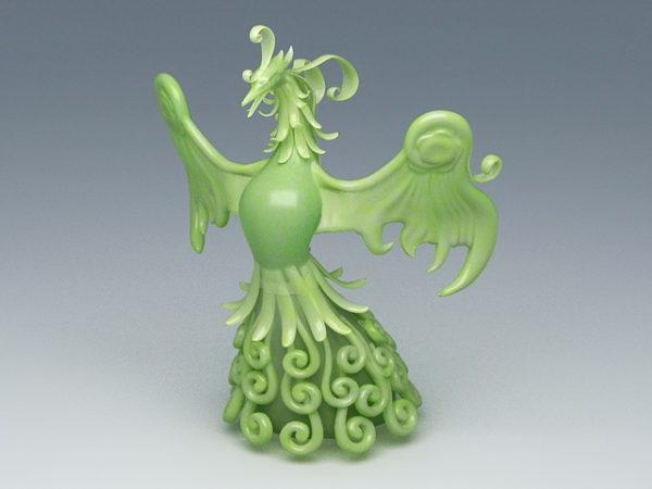 Escultura Fénix de Jade