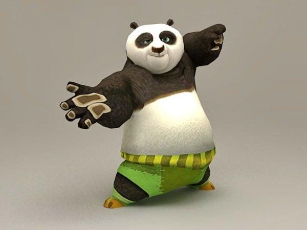 Kung Fu Panda Karakteri Rigged