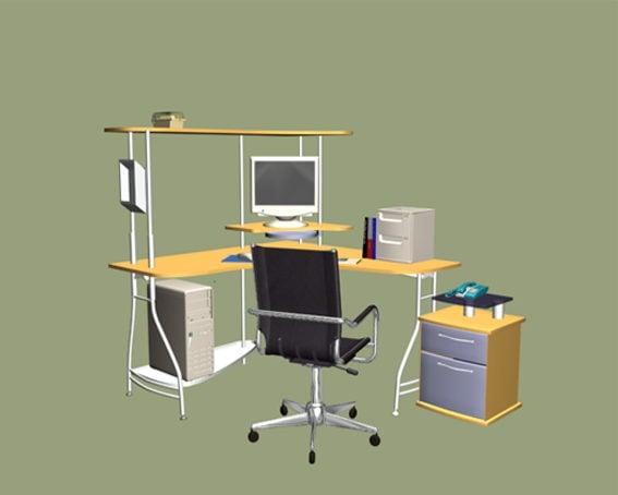 L-shaped Office Computer Workstation