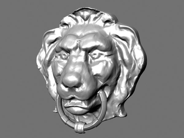 Bajorrelieve cabeza de león