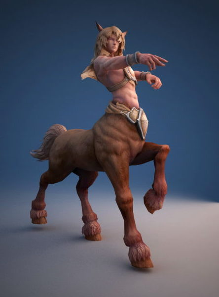Male Centaur Rigged