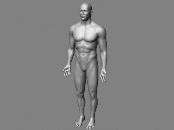 Carácter de malla de cuerpo masculino
