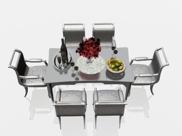 Ruokapöytä ja tuolit