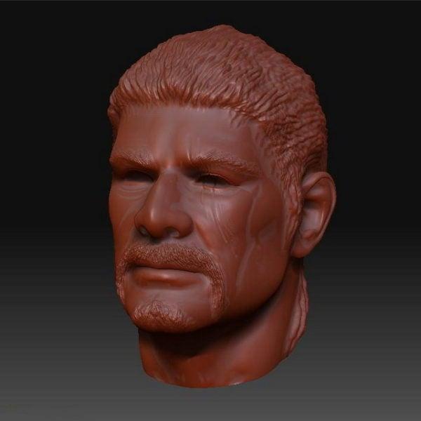 Cabeza de bigote esculpir malla