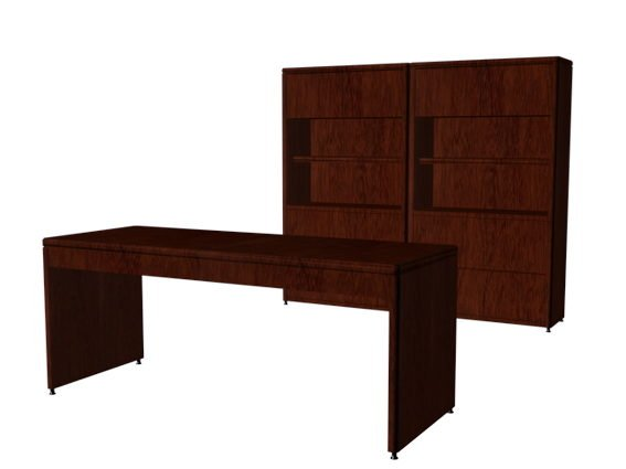 Wooden Office Wall Units Free Model