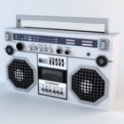 Stary Boombox Low Poly