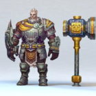 Old Paladin With Hammer
