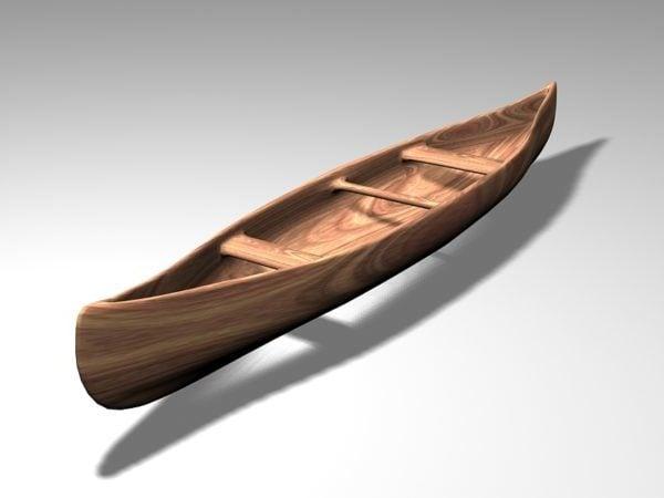 Vanha puinen kanootti