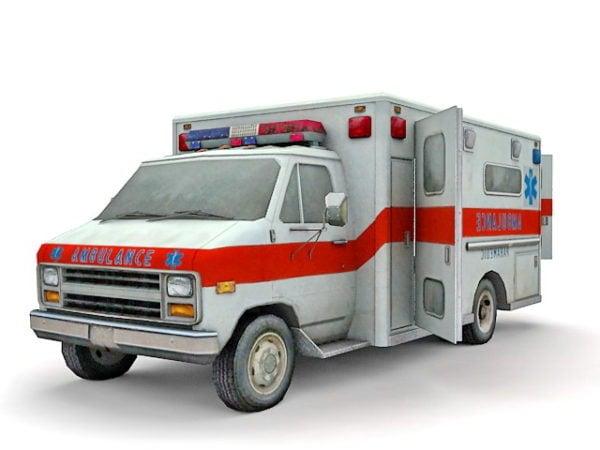 Old Ambulance Truck