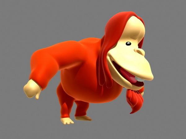 Orangutan Cartoon Rigged