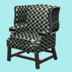 منقوشة الجناح كرسي