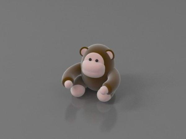 Pehmoinen apinalelu