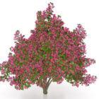 紫の花の木