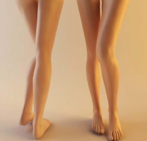 Carácter realista de pierna de mujer