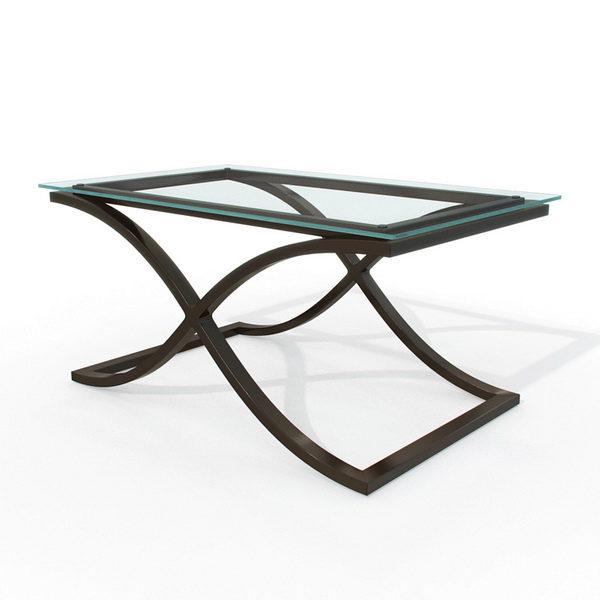 Tavolo rettangolare in vetro temperato per mobili