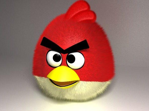 Punainen vihainen lintu pehmo