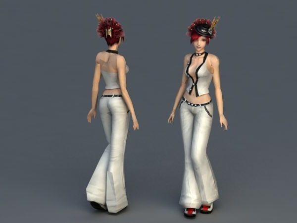 Red Hair Sweetheart Character