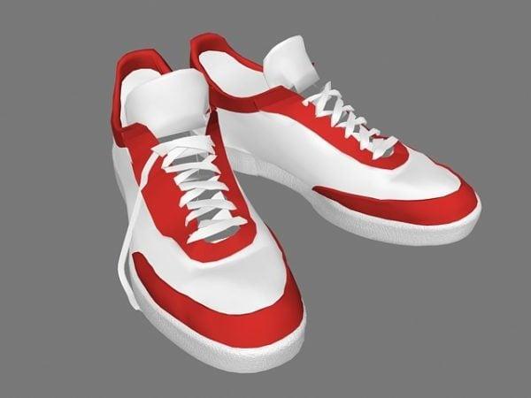 Punainen ja valkoinen lenkkarit