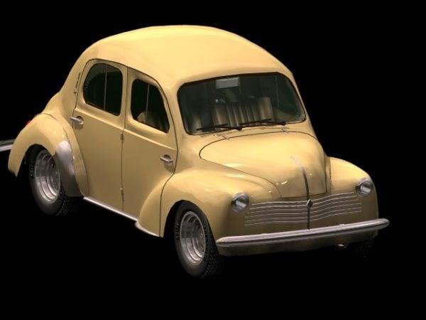 Renault 4cv Compact Car