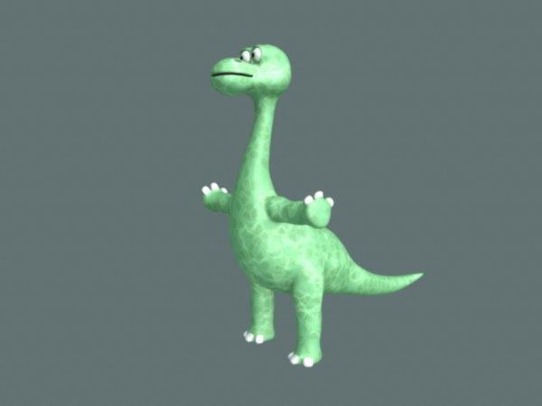 Rigged Sarjakuva dinosaurus