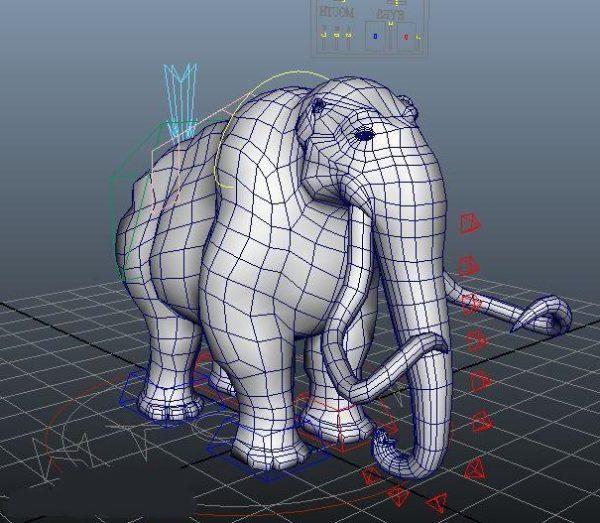 Rigged ماموث الفيل