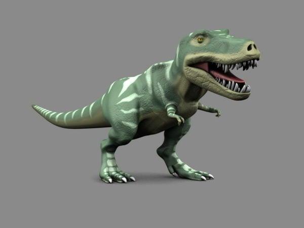 Rigged Dinosaur Tyrannosaurus Rex