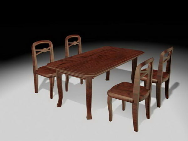 Rustic Dining Room Sets Free 3d Model, Rustic Dining Room Furniture