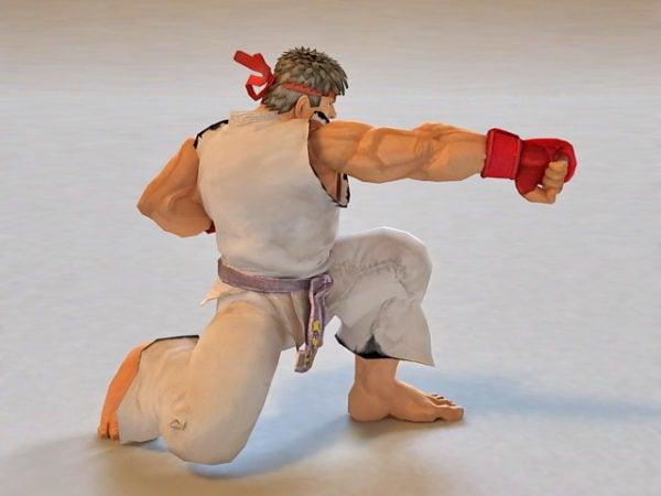 Ryu Street Fighter الرسوم المتحركة & Rigged