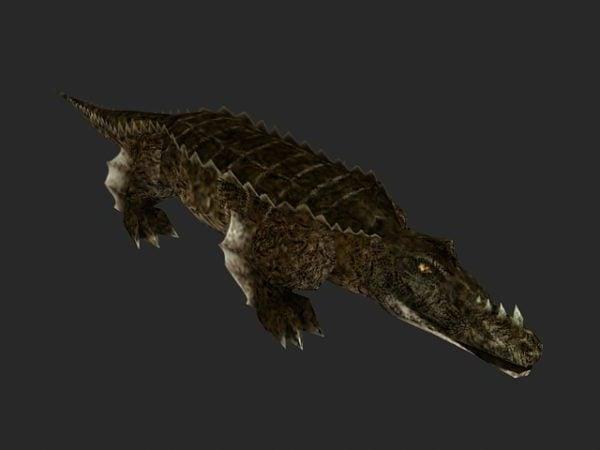 Carácter de cocodrilo de agua salada