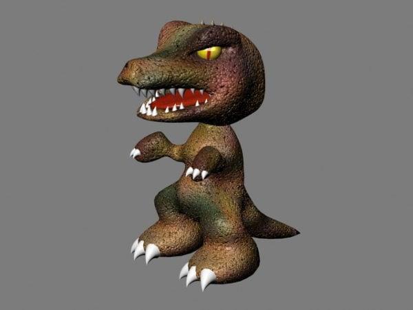 Pelottava sarjakuva dinosaurus