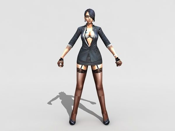 Sexy Female Spy Agent Rigged