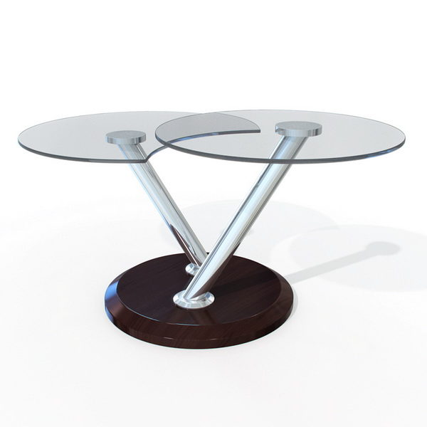 Furniture Small Round Glass Coffee Table Free 3d Model Fbx Max Obj Vray Open3dmodel 135390