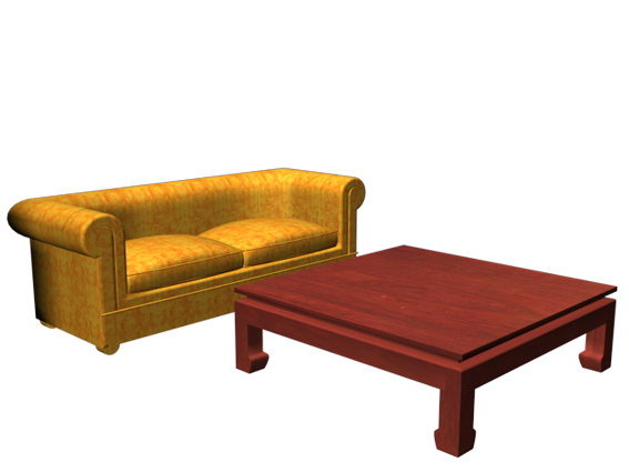Sofa And Coffee Table Sets Free 3d Model 3ds Max Vray Open3dmodel 119772
