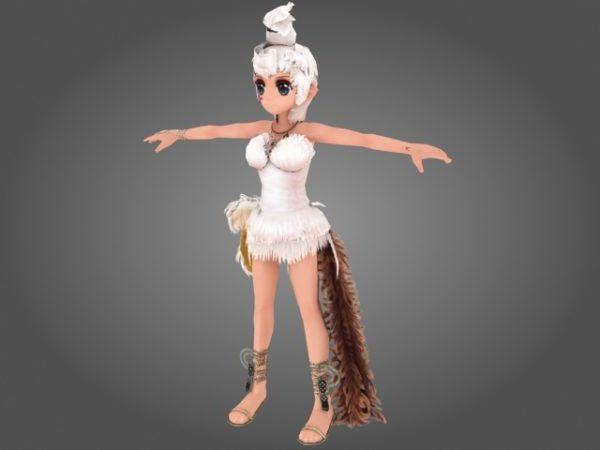 Personaje de dibujos animados de hadas Sprite
