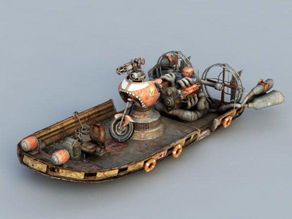 Steampunk ilmatyynyalusta