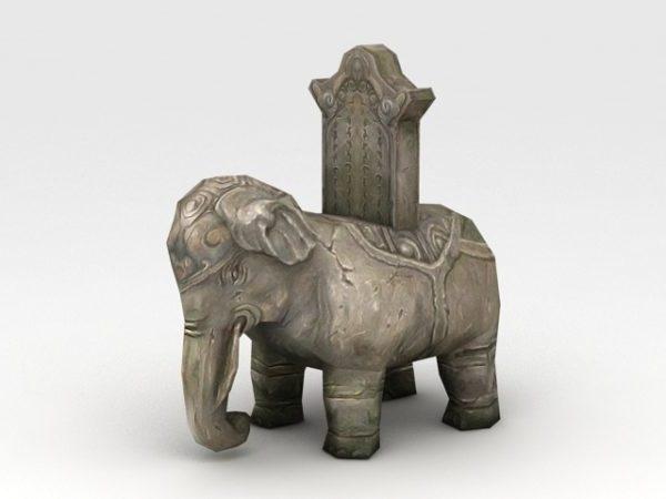 حجر الفيل النحت