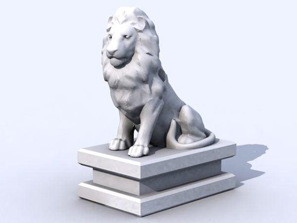 Estatua del león de piedra