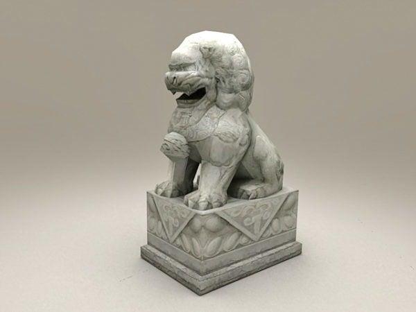 León chino estatua de piedra