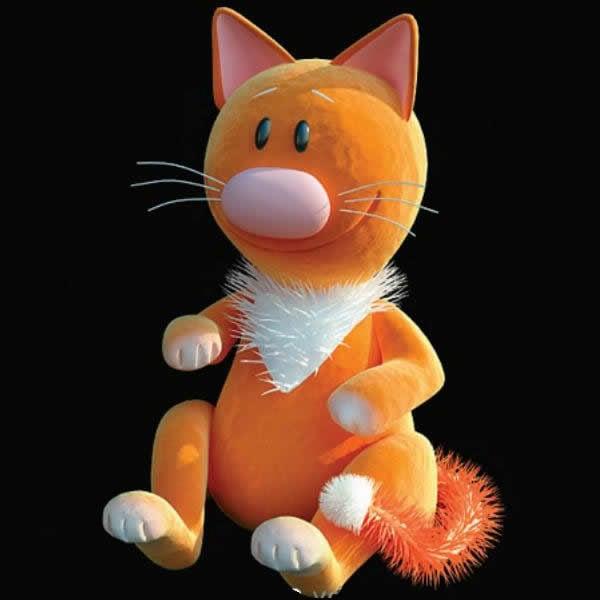 Täytetty kissan lelu